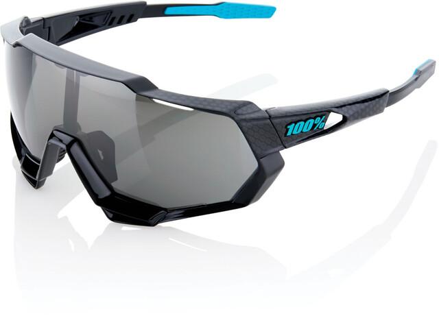 100% Speedtrap Glasses polished black/graphic | mirror